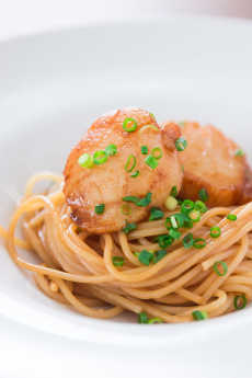 Resep Spaghetti Scallop Saus Mentega