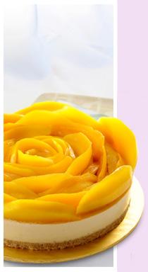 resep cheese cake mangga
