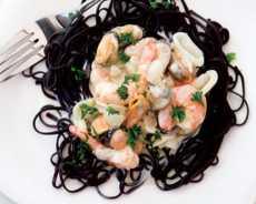 resep mie hitam saus seafood