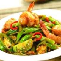 resep udang petai masak cabai hijau