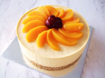 resep cheese cake peach